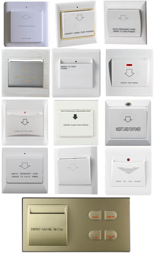 Energy saving switches for hotels