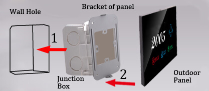 install the electronic doorplate