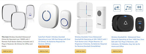 various home use wireless doorbells