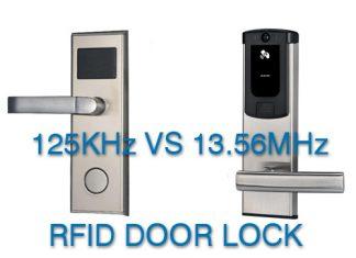 125KHz VS 13.56MHz RFID door lock