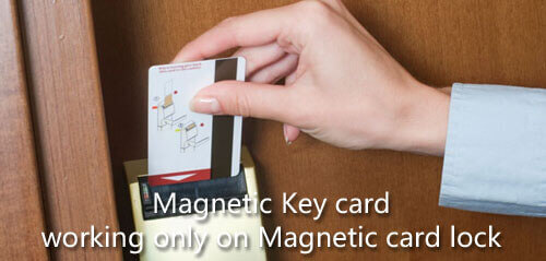 magnetic key card and lock