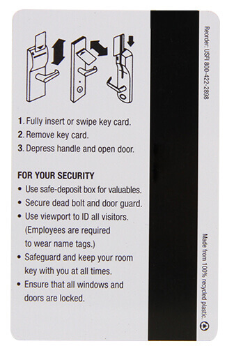 magnetic key card instructions