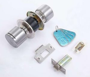 mechanical key card lock