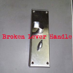 broken level handle hotel lock
