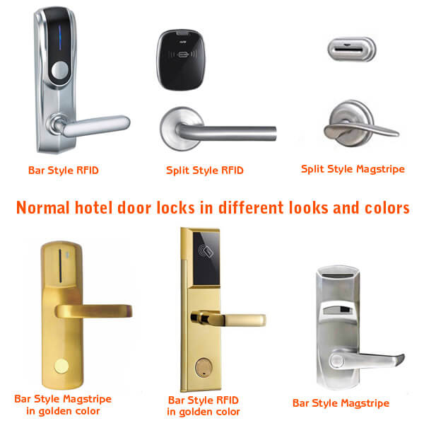 Normal Hotel Door Locks in different styles and colors