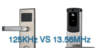 125KHz VS 13.56MHz RFID door lock
