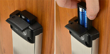 KAHN Hotel Lock Pro jump out battery tray combine both beautiful and simple using